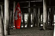 Bruster Photo Prints - Little Red Boat III Print by Clayton Bruster