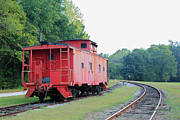 Caboose Prints - Little Red Caboose Print by Suzanne Gaff