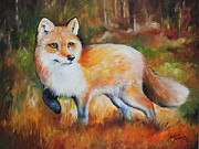 Marcia Baldwin Framed Prints - Little Red Fox Commissioned Framed Print by Marcia Baldwin