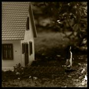 Miniature Photo Originals - Little Red Leaving for Grandmothers by Adam Winnie