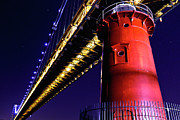 George Washington Photo Prints - Little Red Lighthouse Print by Stephen O