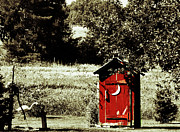 Little Red Outhouse Print by Ms Judi