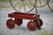 Brimfield Posters - Little Red Wagon Poster by Paula Deutz