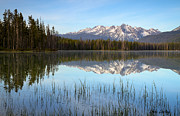 Sawtooth Mountains Metal Prints - Little Redfish Metal Print by Idaho Scenic Images Linda Lantzy