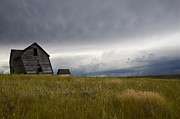 Alberta Prairie Landscape Prints - Little Remains Print by Bob Christopher