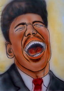 Performer Drawings Prints - Little Richard Print by Pete Maier
