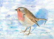 Robin Prints - Little Robin Print by Arline Wagner