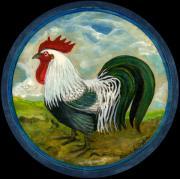 Little Rooster Print by Anna Folkartanna Maciejewska-Dyba