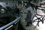 Graffiti Art - Little Runaway by Joana Kruse
