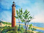 Lake Michigan Painting Originals - Little Sable Point Lighthouse by LeAnne Sowa