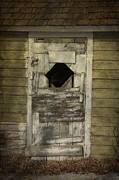 Abandonment Photo Framed Prints - Little Shed Door Framed Print by Larysa Luciw