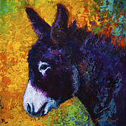 Donkey Painting Metal Prints - Little Sparky Metal Print by Marion Rose