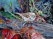 Bird Paintings - Little Sparrow by Gail Chandler