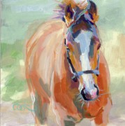 Thoroughbred Race Paintings - Little Spider by Kimberly Santini