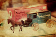Toy Store Photo Metal Prints - Little Stagecoach Metal Print by Toni Hopper