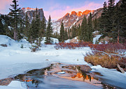 Snow Scene Metal Prints - Little Stream Metal Print by Wayne Boland