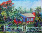 Florida House Painting Posters - Little Studio Poster by Patricia Maguire