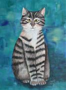 Acrylic Paint Paintings - Little Tiger by Jutta Maria Pusl