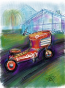 Pedal Car Framed Prints - Little Tractor Framed Print by Russell Pierce