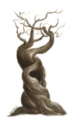 Fantasy Tree Originals - Little Tree 77 by Sean Seal