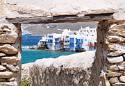 Typical Framed Prints - Little Venice - Mykonos Framed Print by Laura Melis