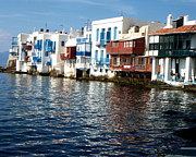 Mediterranian Prints - Little Venice Print by Rebecca Margraf