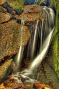 Little Waterfall At Burn O Vat Print by Gabor Pozsgai