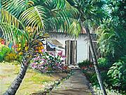 Little West Indian House 2...sold Print by Karin Best