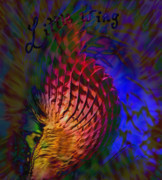 Hawk Spirit Art Mixed Media - Little Wing by Kevin Caudill