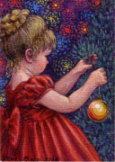Occupy Paintings - Little Winter Girl by Jane Bucci
