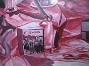 Alizarin Crimson Paintings - Little Women by Stella Sherman
