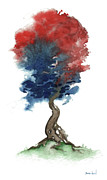 Independence Day Painting Framed Prints - Little Zen Tree 290 Framed Print by Sean Seal