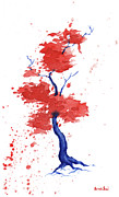 Patriotic Paintings - Little Zen Tree 293 by Sean Seal