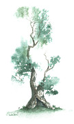 Asian Culture Prints - Little Zen Tree 662 Print by Sean Seal