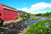 Catherine Reusch Daley Fine Artist Photos - Littleton Grist Mill by Catherine Reusch  Daley