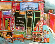 Store Window Display Paintings - Litvacks of Kensington by Michael Litvack