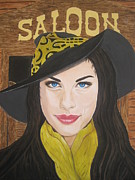 Aerosmith Paintings - Liv Tyler Painting by Jeepee Aero
