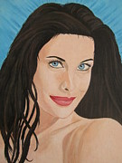 Steven Tyler  Painting Originals - Liv Tyler Painting Portrait by Jeepee Aero