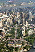 Aerial Photography - Live 8 Concert Philadelphia Ben Franklin Parkway 2 by Duncan Pearson
