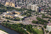 Aerial Photo Of Philadelphia Posters - Live 8 Concert Philadelphia Museum of Art Poster by Duncan Pearson