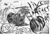 Harley Davidson Drawings - Live after Death by Derek Hayes