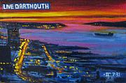 Night Scenes Painting Prints - Live Eye over Dartmouth NS Print by John Malone