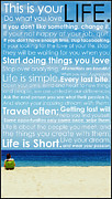 Motivational Posters Posters - Live Life Poster by Brad Scott