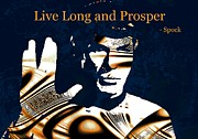 Show Mixed Media Metal Prints - Live Long and Prosper Metal Print by Anastasiya Malakhova