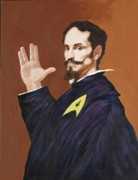 Spock Paintings - Live long and Prosper by George Penon