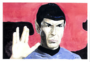 Spock Paintings - Live Long and Prosper by Robby Bragdon