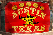 Live Music Photo Framed Prints - Live Music Mural of Austin Framed Print by Andrew Nourse
