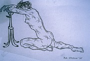 Newton Drawings - Live Nude Female No. 51 by Robert  SORENSEN