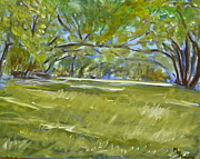 Live Oak Trees Paintings - Live Oak Canopy by Mark Malone