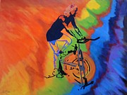 Original  By Artist Paintings - Live to Ride by Bill Manson